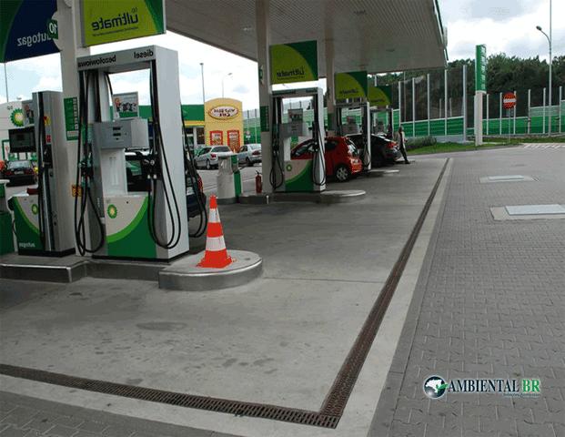Limpeza de canaletas e caixas de inspeção de postos de gasolina